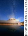 Milky way mountain lake 24178363