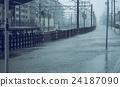 도로, 차도, 태풍 24187090