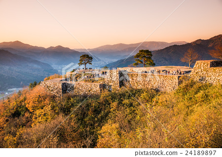 Hyogo prefecture Castle in the sky Autumn leaves of Takeda castle ruins 24189897