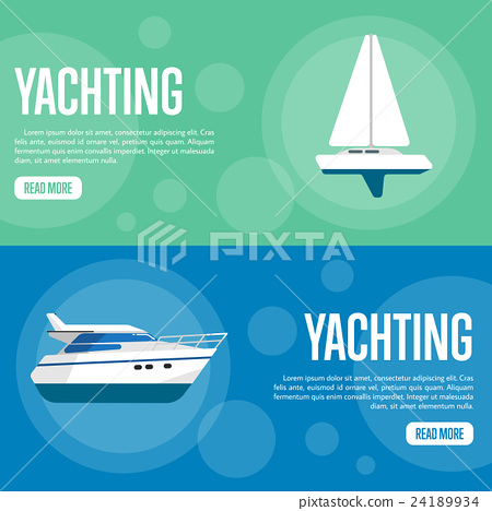 Yachting Website Template Set. Horizontal banners 24189934
