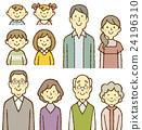 4 세대 가족 미소 24196310