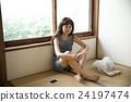 肖像 坐下 坐著 24197474