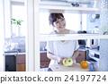 주방 여성 인물 24197724
