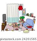 邋遢的 骯髒的 居家 24201565