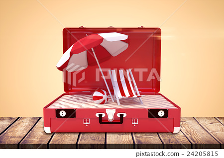 Composite image of image of a suitcase 24205815
