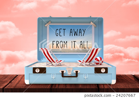 Composite image of get away from it all 24207667