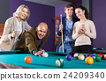 Elderly middle class people having pool game 24209340