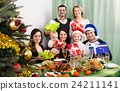 Big family with Xmas gifts 24211141