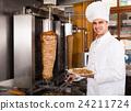 chef, kebab, meat 24211724