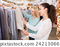 Two girls at clothing store . 24213066