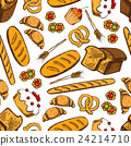Bakery and patisserie seamless background 24214710