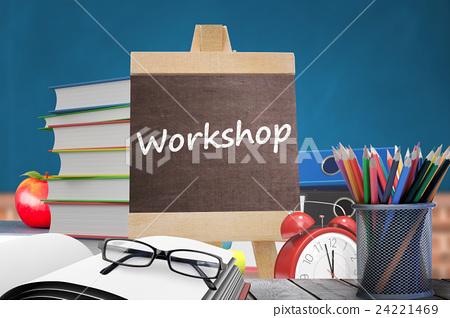 Composite image of workshop word 24221469
