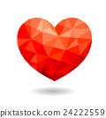 Abstract polygonal heart. 24222559