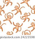 Seamless pattern background with monkeys.  24223598