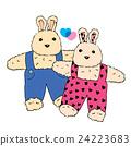 Funny couple rabbits. 24223683