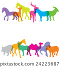 Colorful of silhouette animals, 24223687