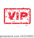 word VIP red grunge stamp 24224002