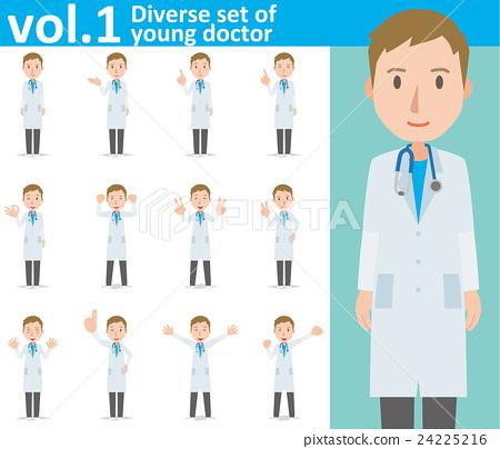 穿著白色西裝的年輕男醫生vol.1(設置各種插圖和姿勢圖) 24225216