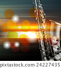 abstract grunge piano background with saxophone 24227435