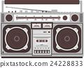 boombox, radio, cassette 24228833
