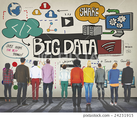Big Data Information Storage Server Online Technology Concept 24231915