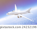 Airplane Transportation Flight Flying Vehicle Blue Sky Concept 24232196