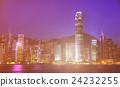 Hong Kong City at Night Cityscape Concept 24232255