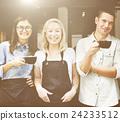 Friends Partnership Barista Coffee Shop Cafe Concept 24233512