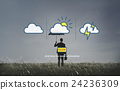 Weather Forecast Lightning Clouds Report Concept 24236309