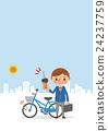 自行车 脚踏车 学生 24237759