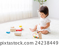 Baby playing with toys 24238449