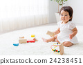 Baby playing with toys 24238451