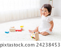 Baby playing with toys 24238453