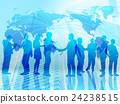 비즈니스 세계화 - 파랑 24238515