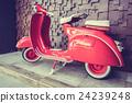 Red vintage motorcycle 24239248