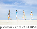 男人和女人享受夏天 24243858