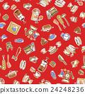 食器類のイラストパターン, 24248236