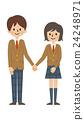 고교생 커플 [심플 캐릭터 시리즈] 24248971