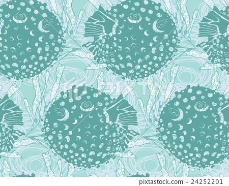 Blowfish green on kelp 24252201