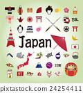 Japanese illustration icon. 24254411