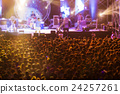 Blurred image of free night live concert 24257261