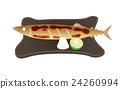 用鹽烤的秋刀魚 24260994