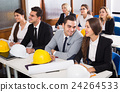 architects having advanced training courses in classroom 24264533
