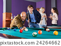 Relaxed people playing billiard and darts 24264662