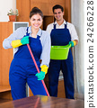 Professional cleaners at the work. 24266228