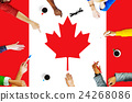 Canada National Flag Business Team Meeting Concept 24268086