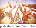 cheers, drinking, friends 24268944