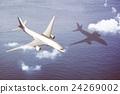 Airplane Transportation Flight Flying Vehicle Blue Sky Concept 24269002