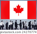 Canada National Flag Business People Team Concept 24270774