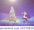 Santa Claus Christmas Tree Gifts Christmas Concept 24270836